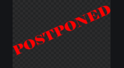 wedding postponed sign